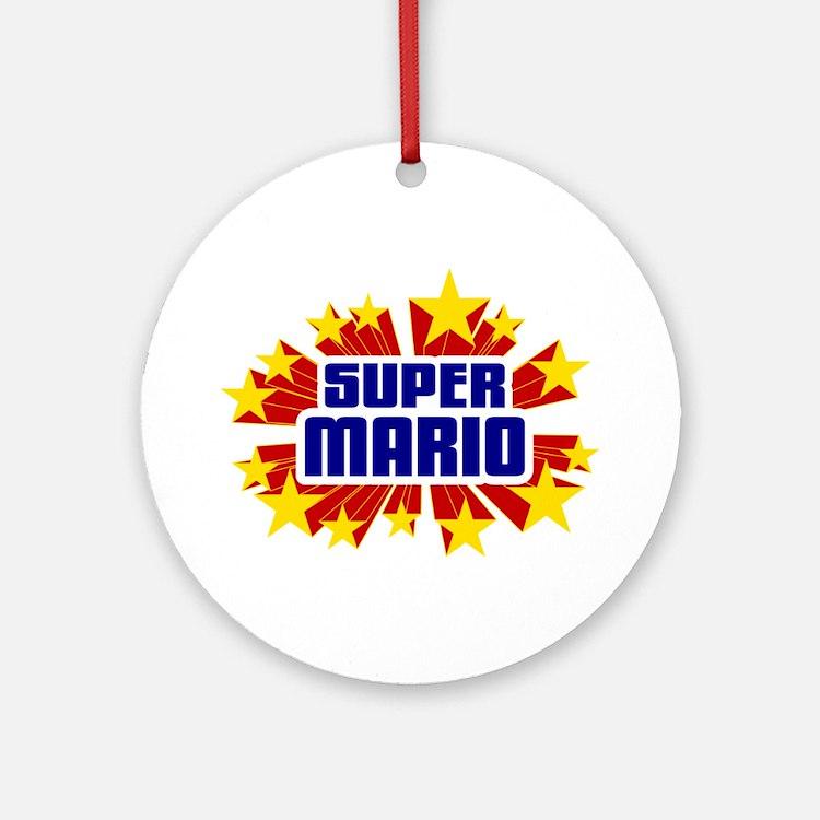 Mario the Super Hero Ornament (Round)