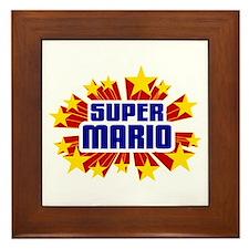 Mario the Super Hero Framed Tile