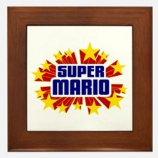Mario the Super Hero Framed Tile