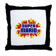 Mario the Super Hero Throw Pillow