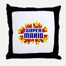 Mario the Super Hero Throw Pillow
