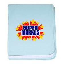 Markus the Super Hero baby blanket