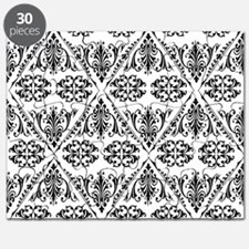 Black & White Damask #22 Puzzle