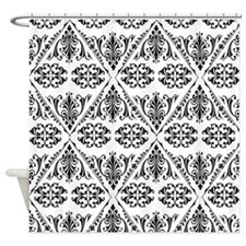 Black & White Damask #22 Shower Curtain