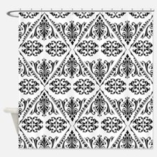 Black & White Damask #22 Shower Curtain
