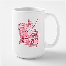Knitting Abbreviation Cloud Large Mug