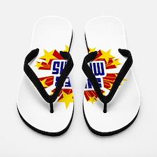 Memphis the Super Hero Flip Flops