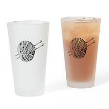 Minimalistic Knit Drinking Glass