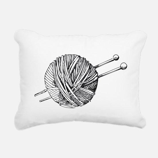 Minimalistic Knit Rectangular Canvas Pillow