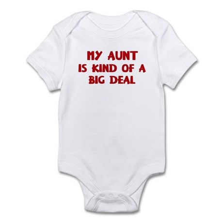 Aunt is a big deal Infant Bodysuit