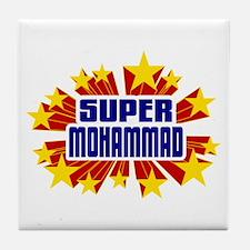 Mohammad the Super Hero Tile Coaster
