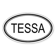 Tessa Oval Design Oval Decal