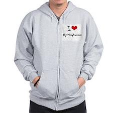 I Love My Playhouse Zip Hoodie