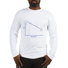 IQ vs Religiosity Long Sleeve T-Shirt