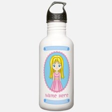 Personalized Girly Sports Water Bottle