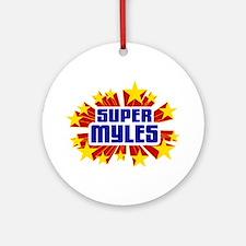 Myles the Super Hero Ornament (Round)
