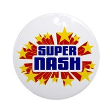 Nash the Super Hero Ornament (Round)