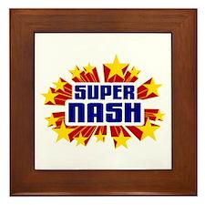 Nash the Super Hero Framed Tile