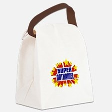Nathaniel the Super Hero Canvas Lunch Bag