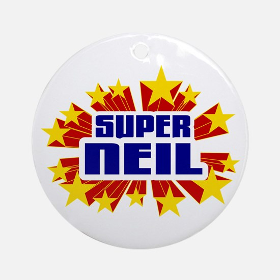 Neil the Super Hero Ornament (Round)
