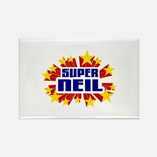 Neil the Super Hero Rectangle Magnet