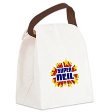 Neil the Super Hero Canvas Lunch Bag
