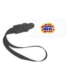 Neil the Super Hero Luggage Tag