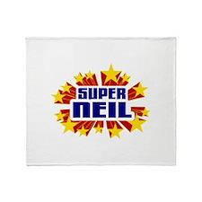 Neil the Super Hero Throw Blanket