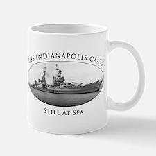USS Indianapolis Battle Stars Mug