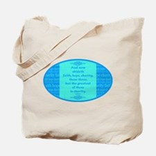 Faith Hope Charity Tote Bag