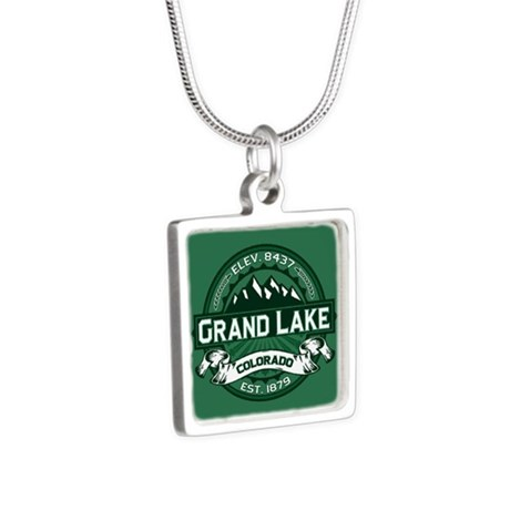Grand Lake Forest Silver Square Necklace