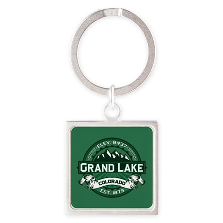Grand Lake Forest Square Keychain
