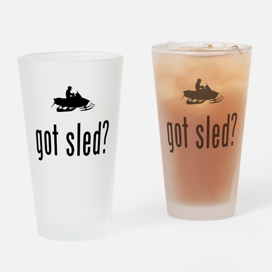 Snowmobile Drinking Glass