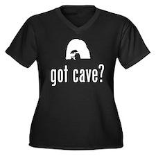 Spelunking Women's Plus Size V-Neck Dark T-Shirt