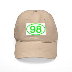 Number 98 Oval Baseball Cap