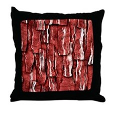 Got Meat? - Overlapping bacon Throw Pillow