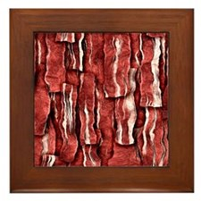 Got Meat? - Overlapping bacon Framed Tile