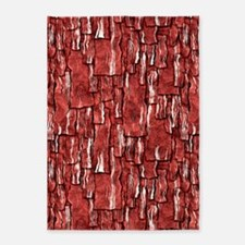 Got Meat? - Overlapping bacon 5'x7'Area Rug