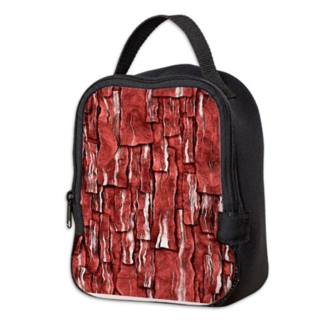 Got Meat? - Overlapping bacon Neoprene Lunch Bag