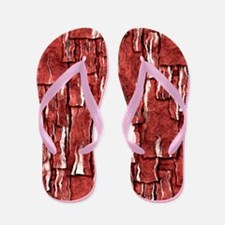 Got Meat? - Overlapping bacon Flip Flops