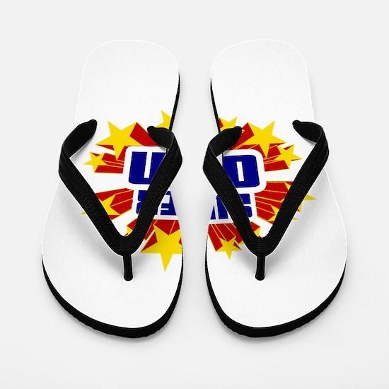 Odin the Super Hero Flip Flops