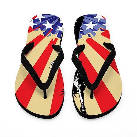 4th of July Celebration Flip Flops