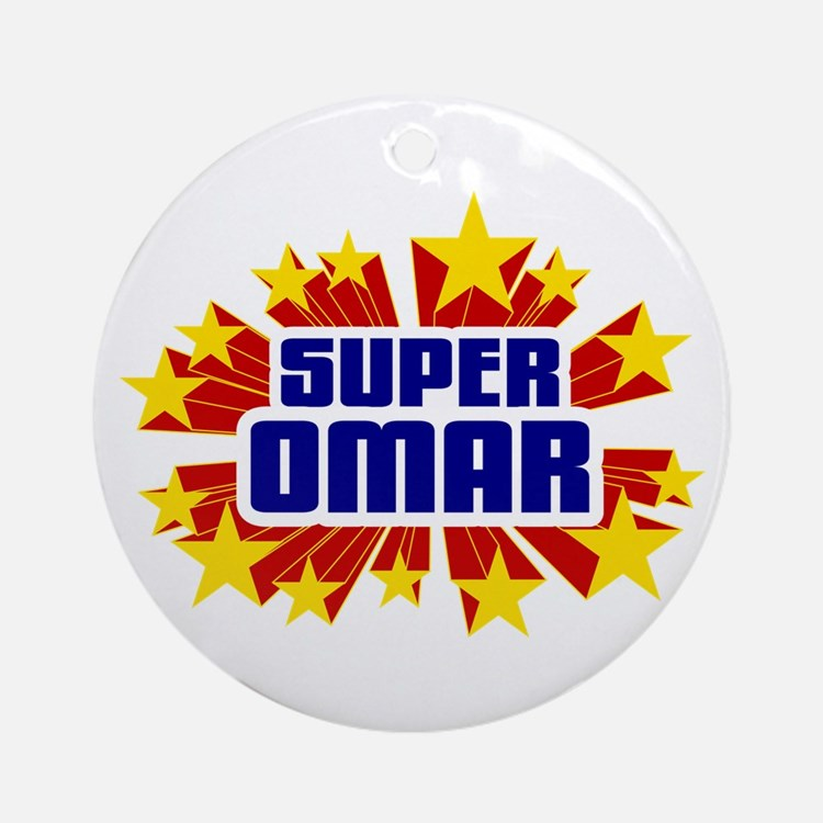 Omar the Super Hero Ornament (Round)