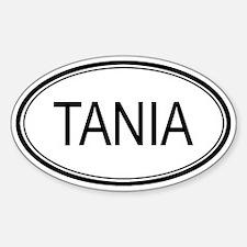 Tania Oval Design Oval Decal