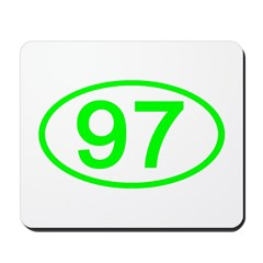 Number 97 Oval Mousepad