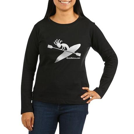 Kokopelli Kayaker Women's Long Sleeve Dark T-Shirt