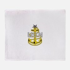 Cute Navy chief petty officer Throw Blanket