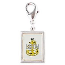 Cute Us navy Silver Portrait Charm