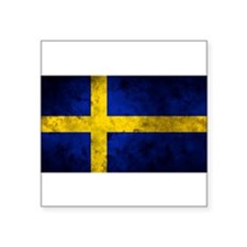 "Swedish Flag Square Sticker 3"" x 3"""