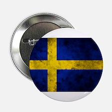 "Swedish Flag 2.25"" Button"